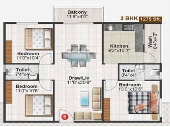 1275 sqft, 2 bhk Apartment in Builder abhilasha enclave Varthur, Bangalore at Rs. 55.0000 Lacs