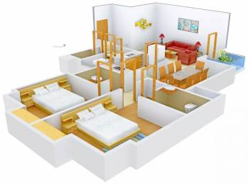 1300 sqft, 2 bhk Apartment in Pioneer Pioneer Park PH 1 Sector 61, Gurgaon at Rs. 42000