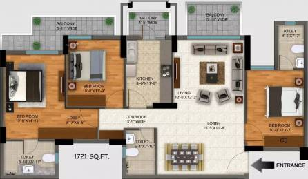 1721 sqft, 3 bhk Apartment in DLF Regal Gardens Sector 90, Gurgaon at Rs. 15000