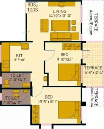904 sqft, 2 bhk Apartment in Bunty Mayur Geminus B Hadapsar, Pune at Rs. 42.0000 Lacs