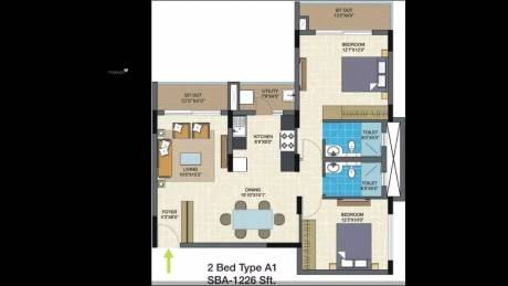 1226 sqft, 2 bhk Apartment in Nitesh Columbus Square Bagaluru Near Yelahanka, Bangalore at Rs. 67.0000 Lacs