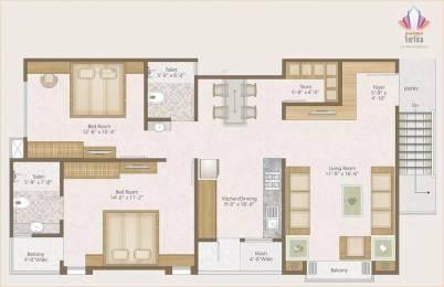 1311 sqft, 2 bhk Apartment in Darshanam Vertica Waghodia, Vadodara at Rs. 7500