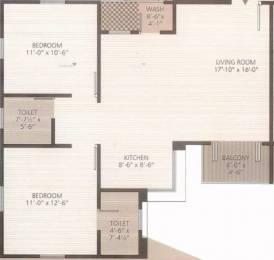 1200 sqft, 2 bhk Apartment in Ravi Rudraksh Chhani, Vadodara at Rs. 9500