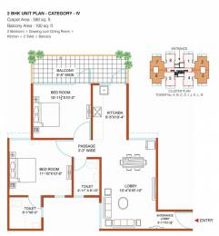 1100 sqft, 2 bhk Apartment in Shree Green Court Sector 90, Gurgaon at Rs. 24.0000 Lacs