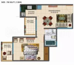 700 sqft, 1 bhk Apartment in Rudra Palace Heights Sector 1 Noida Extension, Greater Noida at Rs. 21.0000 Lacs