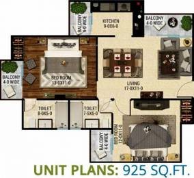 925 sqft, 2 bhk Apartment in The Antriksh Eco Homes Zone L Dwarka, Delhi at Rs. 36.0000 Lacs