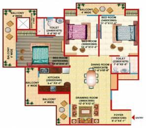 1625 sqft, 3 bhk Apartment in Gaursons Gaur Grandeur Sector 119, Noida at Rs. 75.0000 Lacs