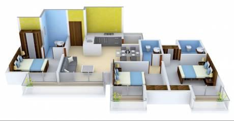 1395 sqft, 3 bhk Apartment in Ajnara Khel Gaon Knowledge Park V, Greater Noida at Rs. 48.1300 Lacs