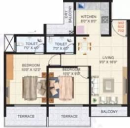 1000 sqft, 2 bhk Apartment in Sejal Suyash Apartments Ulwe, Mumbai at Rs. 75.0000 Lacs