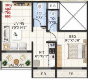 700 sqft, 1 bhk Apartment in Hari Om Leela Residency Ulwe, Mumbai at Rs. 49.0000 Lacs