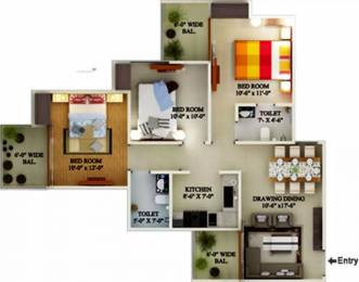 1267 sqft, 3 bhk Apartment in Supertech Eco Village 2 Sector 16B Noida Extension, Greater Noida at Rs. 11000