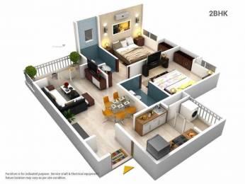 1025 sqft, 2 bhk Apartment in GK Roseland Residency Pimple Saudagar, Pune at Rs. 20000
