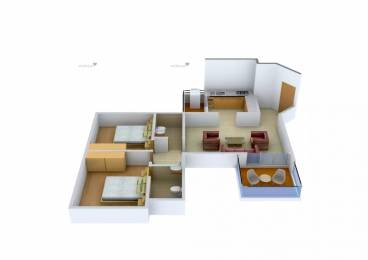 1070 sqft, 2 bhk Apartment in Pride Purple Park Ivory Wakad, Pune at Rs. 20000