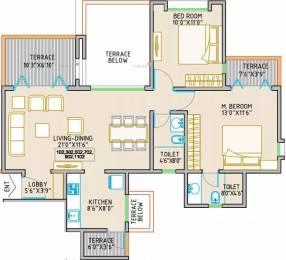 1065 sqft, 2 bhk Apartment in Orange Royal Orange County Rahatani, Pune at Rs. 75.0000 Lacs