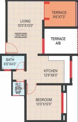 617 sqft, 1 bhk Apartment in GK Royale Rahadki Greens Rahatani, Pune at Rs. 48.0000 Lacs