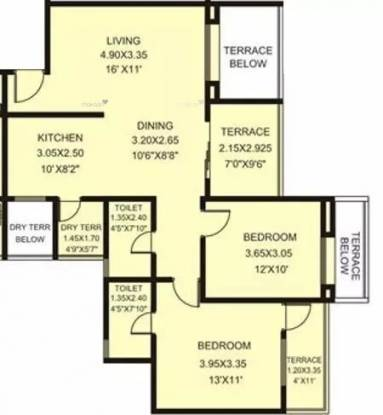 1145 sqft, 2 bhk Apartment in Rachana My World Baner, Pune at Rs. 23000