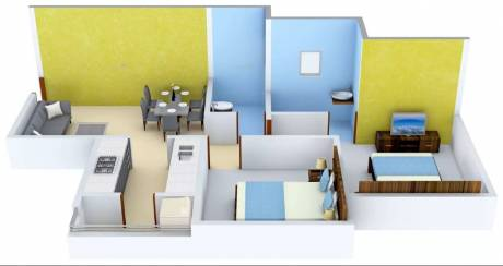 876 sqft, 2 bhk Apartment in Pristine Equilife Mahalunge, Pune at Rs. 63.5000 Lacs