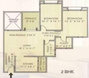 1021 sqft, 2 bhk Apartment in Pride Purple Park Royale Rahatani, Pune at Rs. 18500