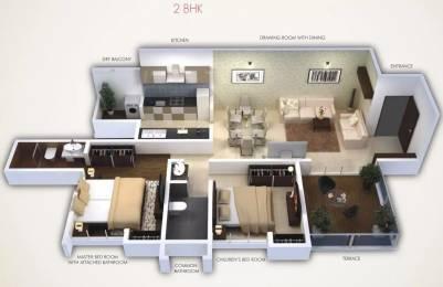 1075 sqft, 2 bhk Apartment in Gini Viviana Balewadi, Pune at Rs. 18000