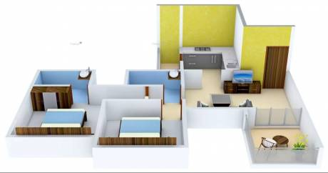 879 sqft, 2 bhk Apartment in Pristine Equilife Mahalunge, Pune at Rs. 57.0000 Lacs