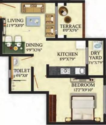 620 sqft, 1 bhk Apartment in Puraniks Aldea Anexo Baner, Pune at Rs. 41.0000 Lacs