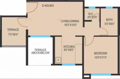 622 sqft, 1 bhk Apartment in Essen Shonest Towers Wakad, Pune at Rs. 41.5000 Lacs