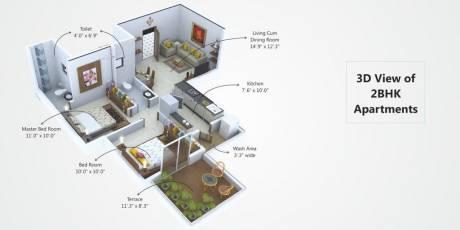 744 sqft, 2 bhk Apartment in Builder kasturi gardna Gotal Pajri, Nagpur at Rs. 15.6240 Lacs