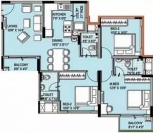 1222 sqft, 3 bhk Apartment in XS Symphony Padur, Chennai at Rs. 18500
