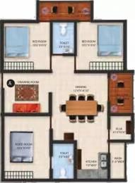 1285 sqft, 3 bhk Apartment in Jayanth Santis Yelahanka, Bangalore at Rs. 53.0000 Lacs