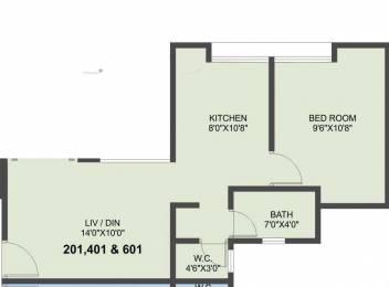 600 sqft, 1 bhk Apartment in Venkatesh Venkatesh Bilva Dhayari, Pune at Rs. 35.0000 Lacs