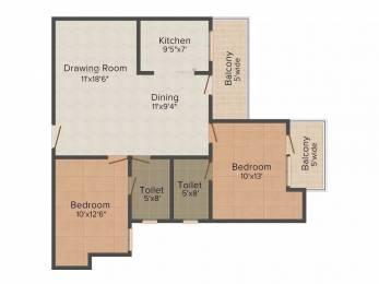 1050 sqft, 2 bhk Apartment in VVIP Addresses Raj Nagar Extension, Ghaziabad at Rs. 7500