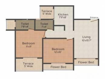 1114 sqft, 2 bhk Apartment in Keshav Wind Kharghar, Mumbai at Rs. 90.0000 Lacs