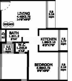 675 sqft, 1 bhk Apartment in Vishrut Athens Kharghar, Mumbai at Rs. 55.5000 Lacs