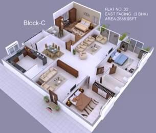 2686 sqft, 3 bhk Apartment in Hallmark Empyrean Puppalaguda, Hyderabad at Rs. 1.0207 Cr