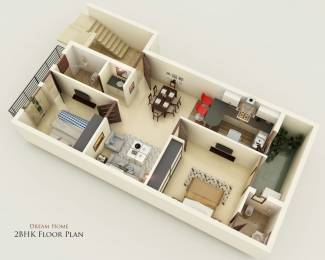 900 sqft, 2 bhk Apartment in Builder Dream Homes Sector 117 Mohali, Mohali at Rs. 27.9000 Lacs