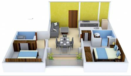900 sqft, 2 bhk Apartment in GM Global Techies Town Electronic City Phase 1, Bangalore at Rs. 42.8325 Lacs