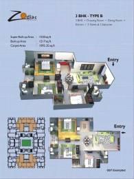 1520 sqft, 3 bhk Apartment in AG Zodiac Apartments Vrindavan Yojna, Lucknow at Rs. 60.5790 Lacs