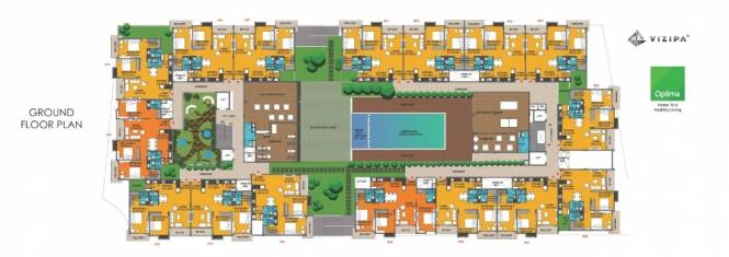 1200 sqft, 2 bhk Apartment in Vizipa Optima Sarjapur Road Wipro To Railway Crossing, Bangalore at Rs. 66.7654 Lacs