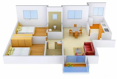 1174 sqft, 2 bhk Apartment in Prestige Ferns Residency Harlur, Bangalore at Rs. 1.0000 Cr