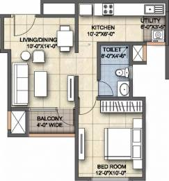 630 sqft, 1 bhk Apartment in Ajmera Lugaano Yelahanka, Bangalore at Rs. 28.0000 Lacs