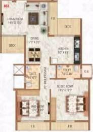 1135 sqft, 2 bhk Apartment in Radhe Krishna Heights Ulwe, Mumbai at Rs. 78.0000 Lacs