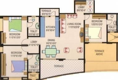 1435 sqft, 3 bhk Apartment in Purple Panchavati Bibwewadi, Pune at Rs. 1.3000 Cr