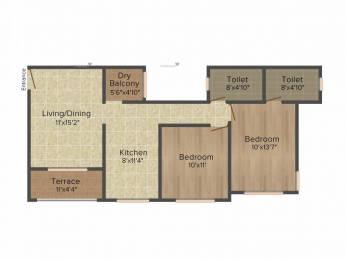 950 sqft, 2 bhk Apartment in Kumar Purva Hadapsar, Pune at Rs. 18500