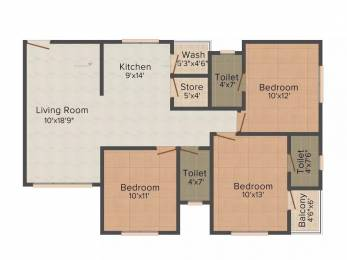 1518 sqft, 3 bhk Apartment in Happy Home Nakshatra Solitaire Palanpur, Surat at Rs. 14000