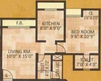 657 sqft, 1 bhk Apartment in Madhav Palacia Thane West, Mumbai at Rs. 71.0000 Lacs