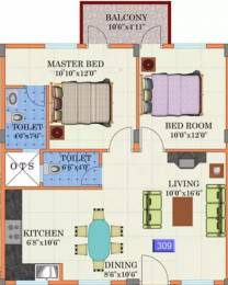1256 sqft, 2 bhk Apartment in YMR Lichen Narayanapura on Hennur Main Road, Bangalore at Rs. 19000
