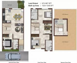 1324 sqft, 3 bhk Villa in Casagrand Elan Thalambur, Chennai at Rs. 17000