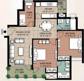 1278 sqft, 2 bhk Apartment in Eldeco Inspire Sector 119, Noida at Rs. 55.0000 Lacs