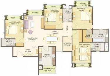 2496 sqft, 4 bhk Apartment in Godrej Anandam Ganeshpeth, Nagpur at Rs. 1.7000 Cr