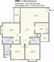 1724 sqft, 3 bhk Apartment in DivyaSree Republic of Whitefield Brookefield, Bangalore at Rs. 35000